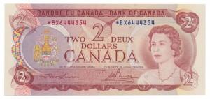 Canada 1974 2 Dollars –  Note  (Multicolour) Obverse