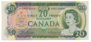 Canada 1969 20 Dollars –  Note  (Multicolour) Obverse