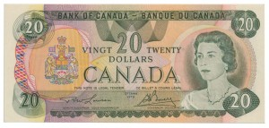 Canada 1979 20 Dollars –  Note  (Multicolour) Obverse