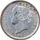 Canada 1871 10 Cents – Victoria Coin Obverse