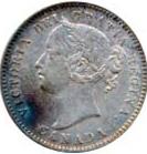 Canada 1874 10 Cents – Victoria Coin Obverse
