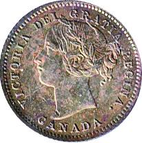 Canada 1875 10 Cents – Victoria Coin Obverse