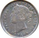Canada 1884 10 Cents – Victoria Coin Obverse