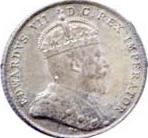 Canada 1909 10 Cents – Edward VII Coin Obverse