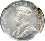 Canada 1911 10 Cents – George V Coin Obverse