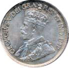 Canada 1913 10 Cents – George V Coin Obverse