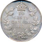Canada 1933 10 Cents – George V Coin Reverse