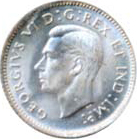 Canada 1937 10 Cents – George VI Coin Obverse