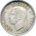 Canada 1941 10 Cents – George VI Coin Obverse