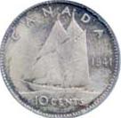 Canada 1941 10 Cents – George VI Coin Reverse