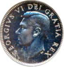 Canada 1948 10 Cents – George VI Coin Obverse