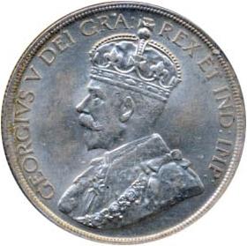 Canada 1936 1 Dollar – George V Coin Obverse