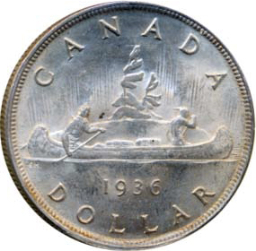 Canada 1936 1 Dollar – George V Coin Reverse