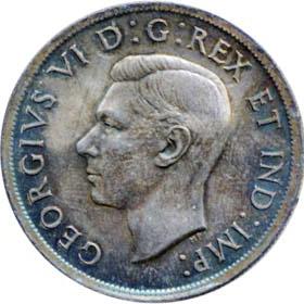 Canada 1938 1 Dollar – George VI Coin Obverse