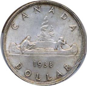 Canada 1938 1 Dollar – George VI Coin Reverse