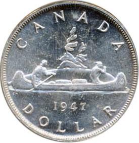 Canada 1947 1 Dollar – George VI Coin Reverse