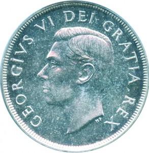 Canada 1951 1 Dollar – George VI Coin Obverse