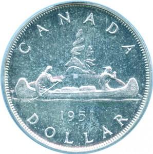 Canada 1951 1 Dollar – George VI Coin Reverse