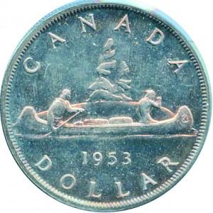 Canada 1953 1 Dollar – Elizabeth II Coin Reverse