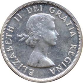 Canada 1955 1 Dollar – Elizabeth II Coin Obverse