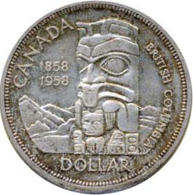 Canada 1958 1 Dollar – Elizabeth II Coin Reverse