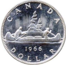 Canada 1966 1 Dollar – Elizabeth II Coin Reverse