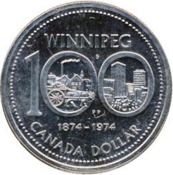 Canada 1974 1 Dollar – Elizabeth II Coin Reverse