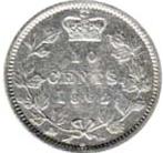 New Brunswick 1862 10 Cents – Victoria Coin Reverse