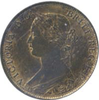 New Brunswick 1864 1 Cent – Victoria Coin Obverse