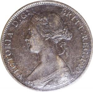 Nova Scotia 1862 1 Cent – Victoria Coin Obverse