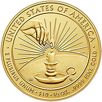 2014 First Spouse Gold Coin Reverse – Eleanor Roosevelt.