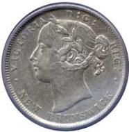 New Brunswick 1862 20 Cents – Victoria Coin Obverse