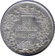 New Brunswick 1862 20 Cents – Victoria Coin Reverse