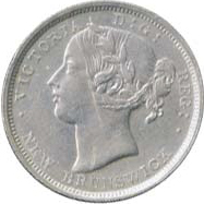 New Brunswick 1864 20 Cents – Victoria Coin Obverse