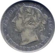 Newfoundland 1899 20 Cents – Victoria Coin Obverse
