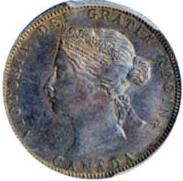 Canada 1870 25 Cents – Victoria Coin Obverse
