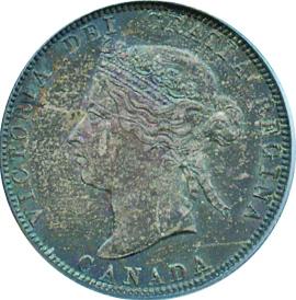 Canada 1881 25 Cents – Victoria Coin Obverse