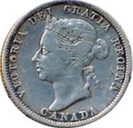 Canada 1889 25 Cents – Victoria Coin Obverse