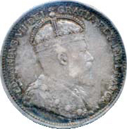 Canada 1904 25 Cents – Edward VII Coin Obverse