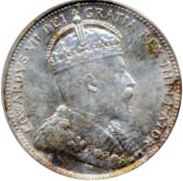 Canada 1907 25 Cents – Edward VII Coin Obverse