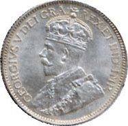 Canada 1913 25 Cents – George V Coin Obverse