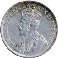 Canada 1914 25 Cents – George V Coin Obverse