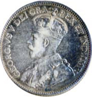Canada 1915 25 Cents – George V Coin Obverse