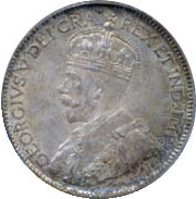 Canada 1916 25 Cents – George V Coin Obverse