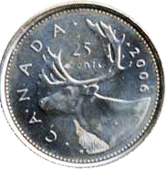 Canada 2006 25 Cents – Elizabeth II Coin Reverse