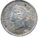 Canada 1871 5 Cents – Victoria Coin Obverse