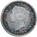 Canada 1885 5 Cents – Victoria Coin Obverse