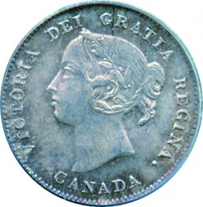 Canada 1886 5 Cents – Victoria Coin Obverse