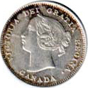 Canada 1894 5 Cents – Victoria Coin Obverse