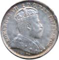 Canada 1902 5 Cents – Edward VII Coin Obverse